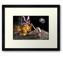 Astronaut - One small step Framed Print
