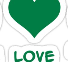Peace love green beer Sticker