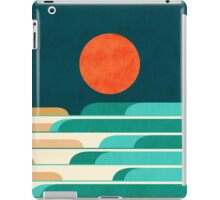 Red moon and chasing waves iPad Case/Skin