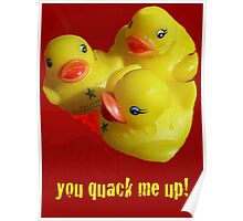 A Greeting Card for Ducks Poster
