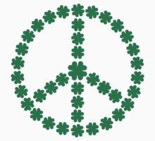 Irish shamrocks peace Kids Tee