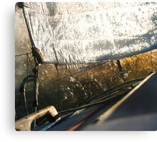 the Shimmering side to Sailing Canvas Print