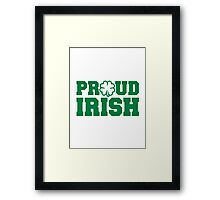 Proud irish shamrock Framed Print