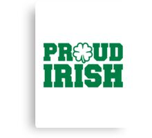 Proud irish shamrock Canvas Print