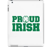 Proud irish shamrock iPad Case/Skin