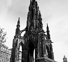 The Lady & the Scott Monument by SaraHardman