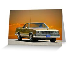 1982 Chevrolet El Camino Greeting Card