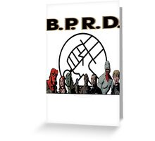 bprd b.p.r.d hellboy comic Greeting Card