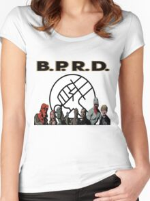 bprd b.p.r.d hellboy comic Women's Fitted Scoop T-Shirt