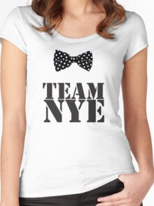 Team Bill Nye The Science Guy Women's Fitted Scoop T-Shirt