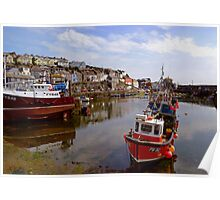 Low Tide at Mevagissey, Cornwall Poster
