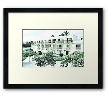 Peppermint apartments Framed Print