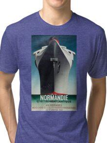 Vintage poster - Normandie Tri-blend T-Shirt