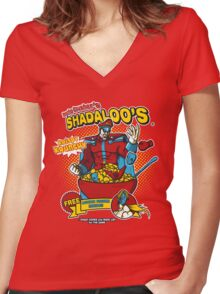 Shadaloo's Women's Fitted V-Neck T-Shirt