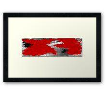 Red and Black Blocks Framed Print