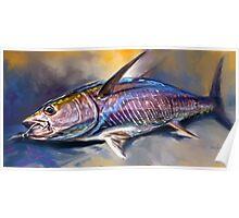 """Yellowfin Tuna Sportfishing Art - """"Where's My Wasabi""""  Poster"""
