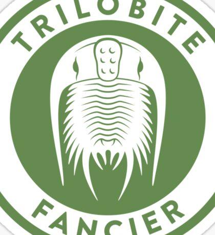 Trilobite Fancier (green on white) Sticker