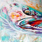 "Steelhead Fish Expressionist Art - ""Vanishing Native"" by Mike Savlen"