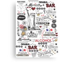 COCTAILS Canvas Print