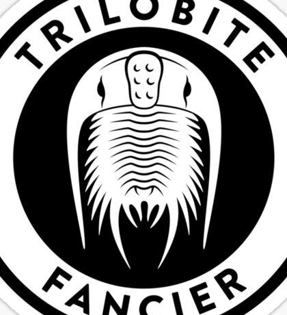 Trilobite Fancier (black on light) Sticker