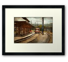 Train - Boarding the Scranton Trolley Framed Print