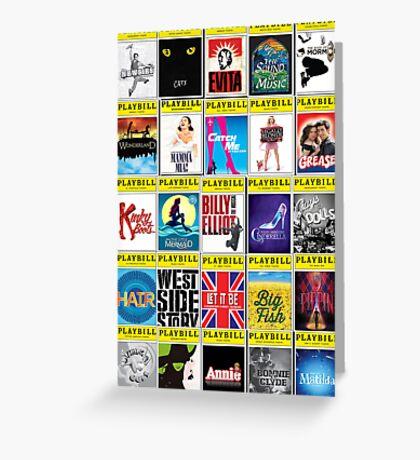 Broadway Playbill Palooza Greeting Card