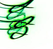 Little Green Bird- Unique Abstract Art by Vincent J. Newman