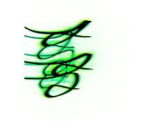 Little Green Bird- Unique Abstract Art Photographic Print