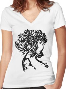 Nature Woman Women's Fitted V-Neck T-Shirt