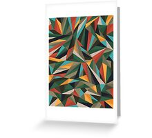Sliced Fragments Greeting Card