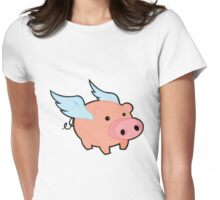 pigs fly Womens Fitted T-Shirt