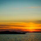 Norwegian sunset by Paulius Bruzdeilynas