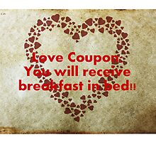 Love Coupon: Breakfast in bed! by generalproducts