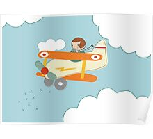 B is for Biplane Poster