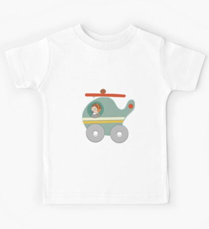 H is for Helicopter Kids Tee