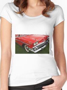 1958 Chevy Impala Women's Fitted Scoop T-Shirt