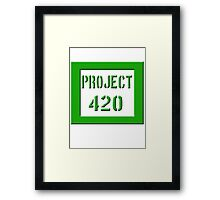 PROJECT 420 green 0001 Framed Print