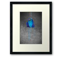 Blue On Black Framed Print