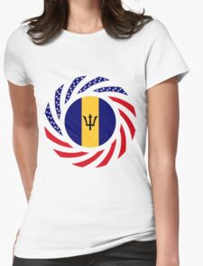 Barbadian American Multinational Patriot Flag Series Womens Fitted T-Shirt