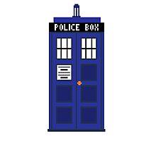 8-Bit TARDIS Photographic Print