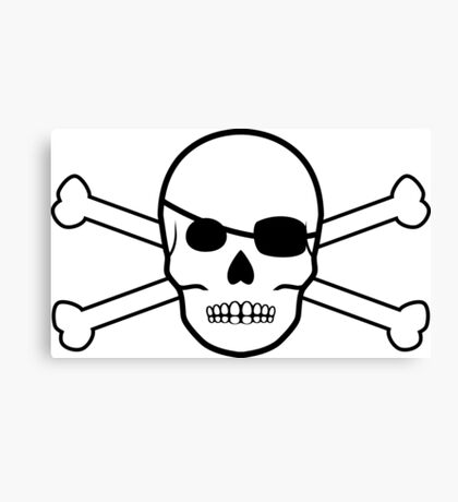 pirate skull and crossbones Canvas Print