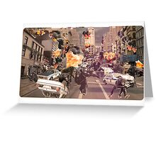 Chimp Riot Greeting Card