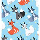 Cutie Foxes by Carrie Wilbraham