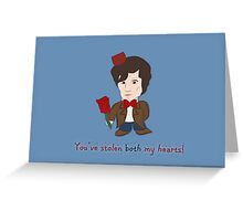 Dr Who Valentines: Both my Hearts Greeting Card