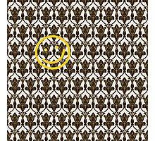 BBC Sherlock Holmes Damask Wallpaper Pattern Photographic Print