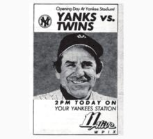 Yogi Berra Vintage 1983 Yankees vs Twins Opening Day by smilku