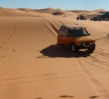 Atlas Travel Desert Caravan Tshirt Sticker
