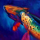 "Rainbow Trout Fish Art ""Trout Dreams"" by Mike Savlen"