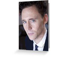 Tom Hiddleston Portrait greeting card Greeting Card