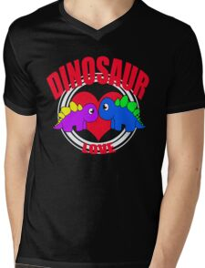 Dino Mens V-Neck T-Shirt